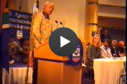 Mandela Announcing a Partnership with USAID on AIDS