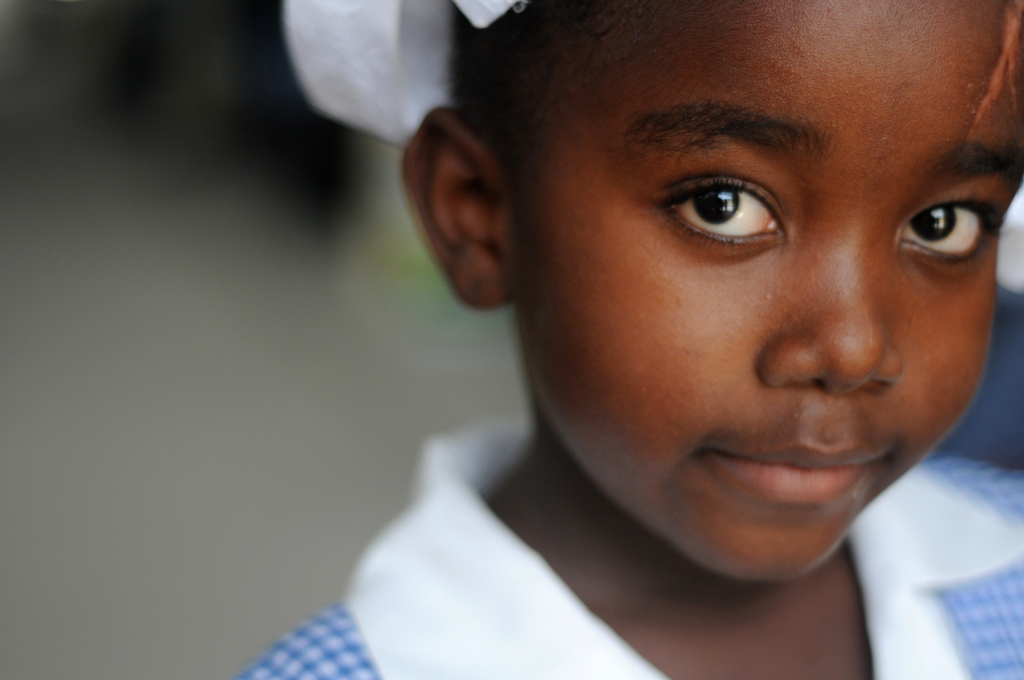 A young girl. Photo Credit: Kendra Helmer/USAID