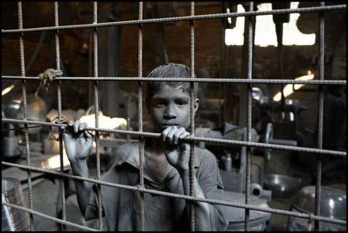 Child worker in India. / Global March Against Child Labor