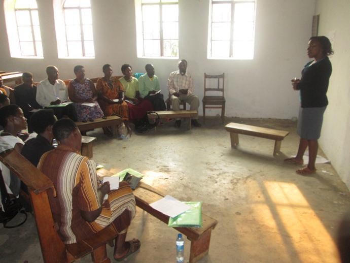 Adera facilitating Village Health Team training for community mobilization and SBCC in Ntungamo