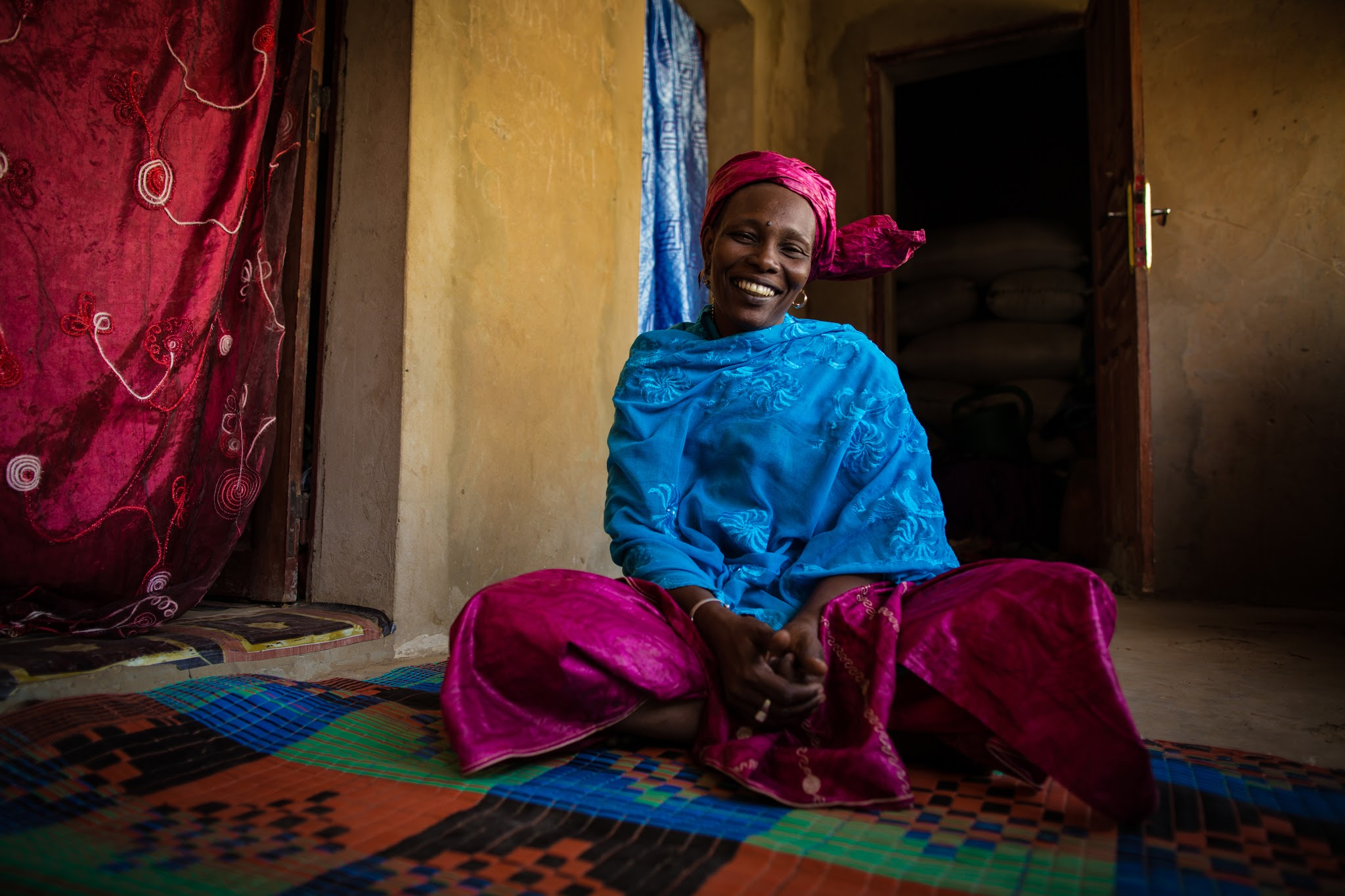 A community solution provider in rural Senegal, Hapsatou Kah is giving her community access to better health and nutrition. / Morgana Wingard, USAID